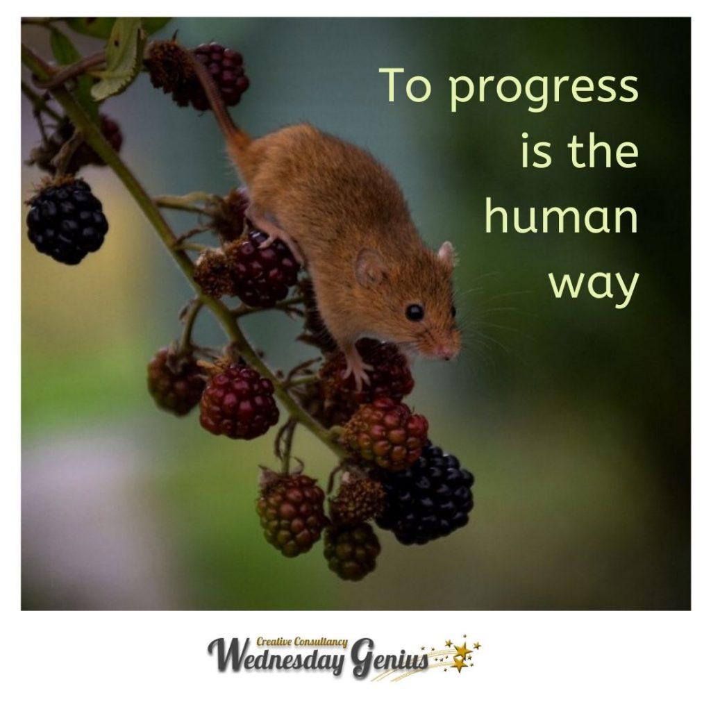 Progress is the human way
